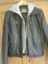 Soft Leather Jacket     Detachable Hoodie   40''   chest