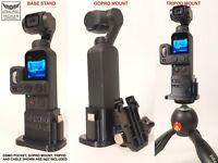 DJI OSMO Pocket Tripod + GoPro Adapter Mount with Base Flex Rubber 3D Print V2.3