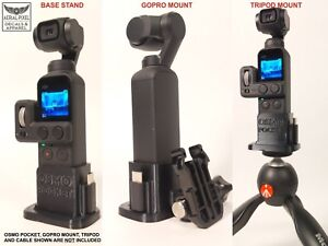 DJI OSMO Pocket Adapter Mount for Tripod or GoPro -  Flexible Rubber 3D Print