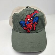 Spiderman Embroidered Youth Baseball Cap Hat Strapback Green Tan Marvel