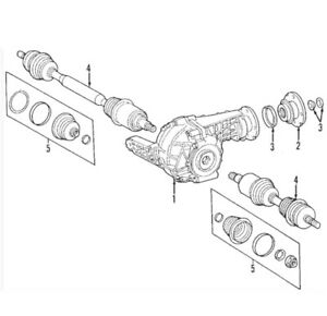 For Mercedes Genuine Differential Pinion Seal 1643370059