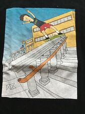 Beavis And Butthead Skateboarding Black T-shirt Mens Size Small