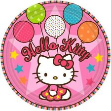 HELLO KITTY PARTY SUPPLIES 8 DINNER PLATES GENUINE LICENSED