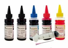500ml Universal ink bottles for CISS or refill cartridges + 30ml syringes BK CMY