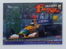 1995 Futera Australian F1 Grand Prix Fastest Laps card #FL8 Michael Schumacher