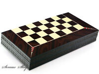 Luxus Backgammon Tavla Elegance XXL Gesellschaftspiele Familienspiel 50 x 50 cm.