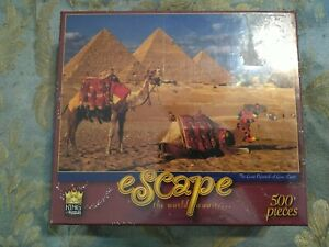 the GREAT PYRAMIDS OF EGYPT CAMELS PUZZLE 500 PIECE ESCAPE..THE WORLD AWAITS