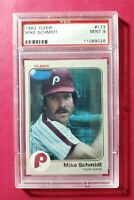 1983 Fleer #173 MIKE SCHMIDT (Philadelphia Phillies HOF) **PSA 9 (MINT)** WOW!!!
