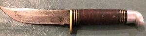 Vtg.Camillus NY.USA #1008 Fixed Blade Hunting Knife Used