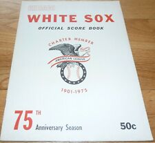 1975 CHICAGO WHITE SOX VS CLEVELAND INDIANS SCORED SCORECARD-PROGRAM 6