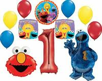 Sesame Street Party Supplies 1st Birthday Cookie Monster Elmo and Friends Bal...
