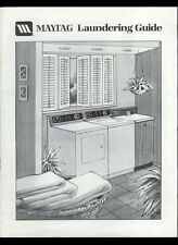 Maytag Laundering Guide Washers Dryers Rare Vintage Original 1990 Care Manual