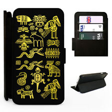 Aztec Tribal Symbols - Flip Phone Case Cover - Fits Iphone / Samsung