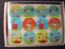 Vintage Vari-View Peanuts Lenticular Uncut Sheet Rare Charlie Brown Snoopy Lucy
