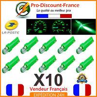 10 x T5 LED Voiture Vert Ampoule Tableau de Bord Compteur Tuning 12V