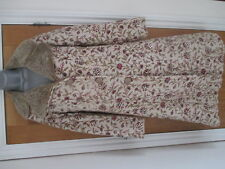 FROSTFRENCH  CREAM WOOL MIX COAT FLORAL SEQUIN DETAIL SIZE 8