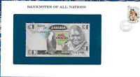 Banknotes of All Nations Zambia 1980 1 Kwacha P-23a UNC prefix 60/A