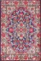 Persian Kirman Vintage Area Rug Floral 2x3 Wool Decorative Oriental Rug BLUE