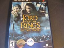 Lord of the Rings Two Towers Sony PlayStation 2 PS2 Video Game Disc Black Label