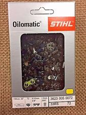 GENUINE STIHL 33RS 72, 3623 005 0072,  CHAINSAW CHAINS NIB 3/8 .050 72DL