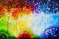 Handmade painting,oil paint on canvas,wall decor,large oil paintings,landscape