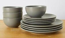 12 Piece Matte Dinnerware Set Dining Plates Stoneware Dinner Sets Home Kitchen