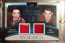 2017 Leaf ITG Game Used Marcel Pronovost Bill Gadsby Vintage Patch Red Wings /2