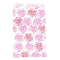 "500 Pink Flower Print Merchandise Retail Paper Party Favor Gift Bag 8.5/"" x 11/"" T"