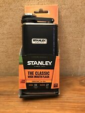 New Stanley Classic Flask Hammertone Navy 8oz Wide Mouth Stainless Steel