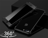 Shockproof 360° Silicone Protective Clear Case Glass For Apple iPhone 7 8 X