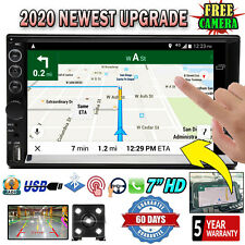 2 Din Car Stereo Radio HD Mp5 Touch Screen Mirror Link for GPS +Camera Universal