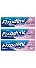 3 Fixodent Original Complete Denture Adhesive Cream Strong Food Seal Comfort 47g