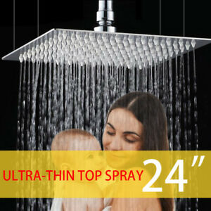 """Stainless Steel 8""""-24""""  Silver Rain Square Shower Head Wall/Ceiling Mount Faucet"""
