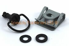 Dzus 15mm Black Quick Release Fasteners Fairing Bolts Studs Quarter Turn + Clips