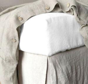 100% Leinen Spannbettlaken 140x200 cm Weiß Rundumgummizug Neu