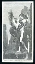 Oedipus and the Sphinx...wood engraving...1864