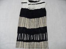 PIAZZA SEMPIONE schönes gemustertes Jerseykleid beige schwarz Gr. 38 TOP KW918