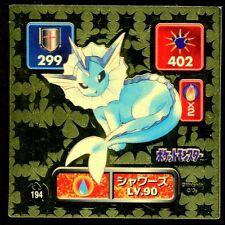 POKEMON STICKER Carte JAPANESE 50X50 1996 GOLD N° 194 VAPOREON AQUALI