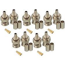 10 Sets 3-Piece BNC Male RG58 Plug Crimp Connectors L6