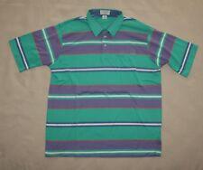 2Xl Vintage Striped Tournament Arrow Polo Golf Shirt Green Lavender Short Sleeve
