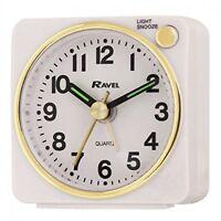 Ravel Quartz Mini Travel Alarm Clock RC018 BLACK QUALITY BATTERY SILENT SWEEP