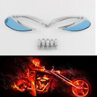 2pcs 8/10mm Motorcycle Rearview Chrome Mirrors Teardrop For Harley/Honda/Suzuki