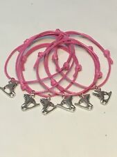 6 ICE SKATING FRIENDSHIP BRACELETS PARTY BAG FILLERS Lucky Dips FAVOURS Freepost