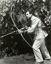 ANTIQUE REPRO 8X10 PHOTO LEGENDARY LONG BOW ARCHER HOWARD HILL