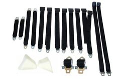 PG Classic 2850-70BEN-100 Mopar 1970 E-Body Bench Seat Belt Set (Black)