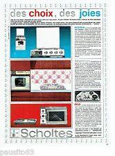 PUBLICITE ADVERTISING 126  1964  Scholtès  four rotissoire cuisinière