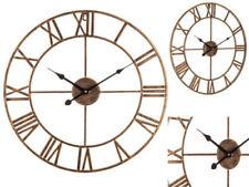 Metal Oval Quartz (Battery Powered) Wall Clocks