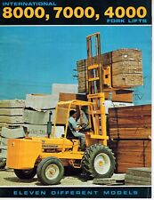International Vintage 4000 7000 8000 Forklift Specifications Sales Brochure
