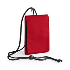 Bagbase Phone Pouch XL Smartphone Cover Zipped Pocket Neck Cord (BG49)