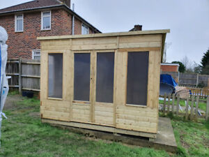 10 x 8 Pressure Treated Unique Curved Roof Garden Summerhouse Tongue and Groove